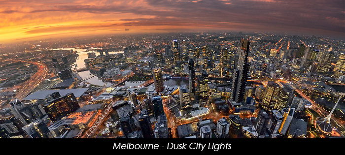 Melbourne - Dusk City Lights